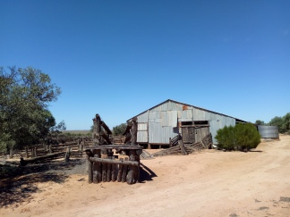 The shearing shed at Mungo was built in 1869.